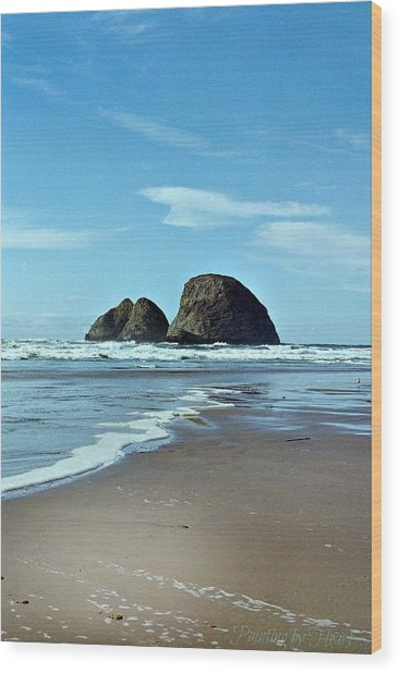 Oregon Coast 8 Wood Print