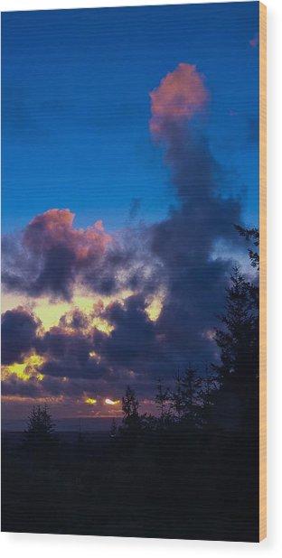 Oregon Coast Clouds Wood Print