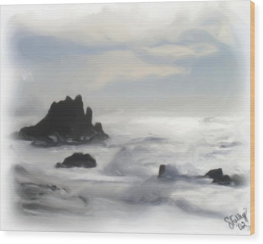 Oregon Coast Wood Print by Shelley Bain