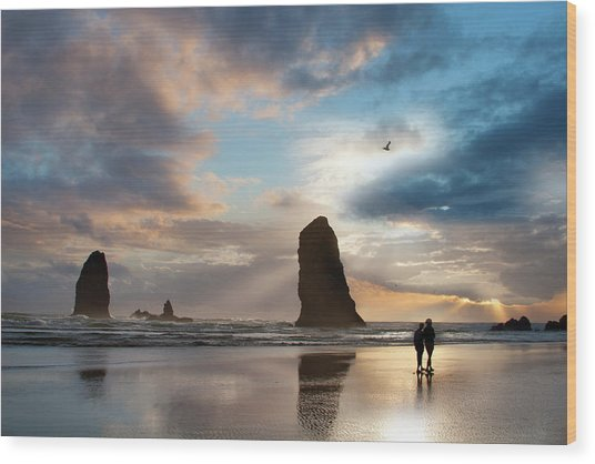 Oregon Coastine Wood Print