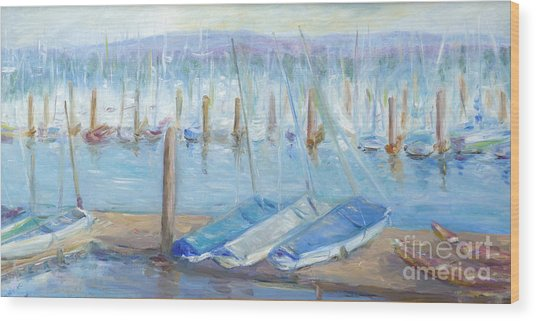 Oregon Harbor Wood Print