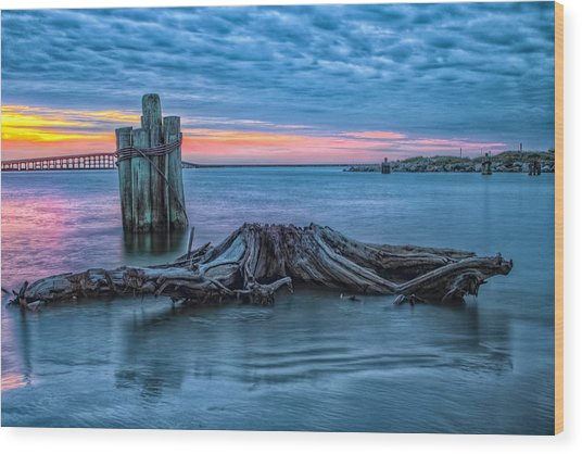 Oregon Inlet II Wood Print