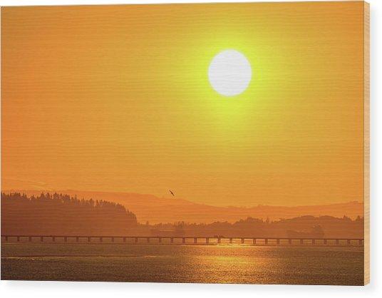 Oregon Sunrise Wood Print