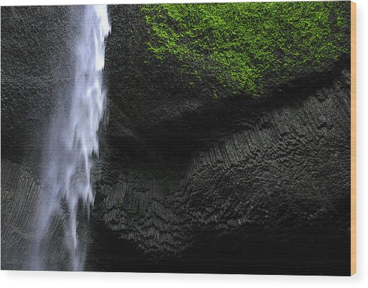 Oregon Waterfall Wood Print
