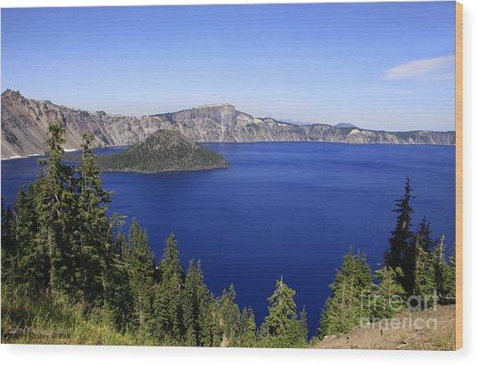 Oregons Crater Lake Wood Print