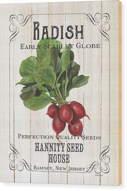 Organic Seed Packet 3 Wood Print