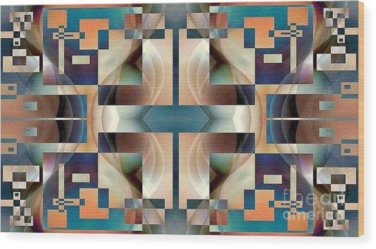 Organic Symetry Wood Print by Jack Dillhunt