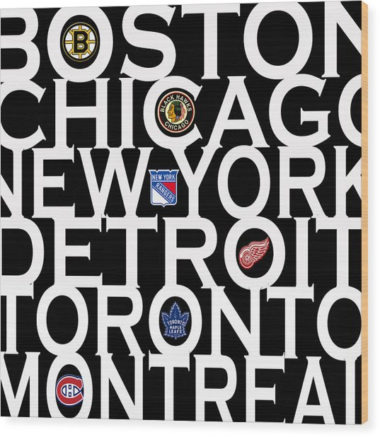 Original Six Wood Print