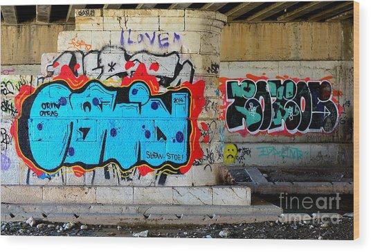 Orin        ' Graffiti ' Wood Print by Urban Artful