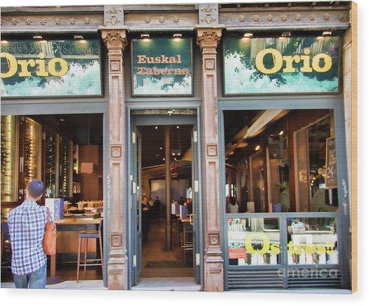 Orio La Rambia Beer Drinks  Wood Print