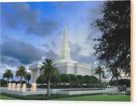 Orlando Lds Temple Wood Print