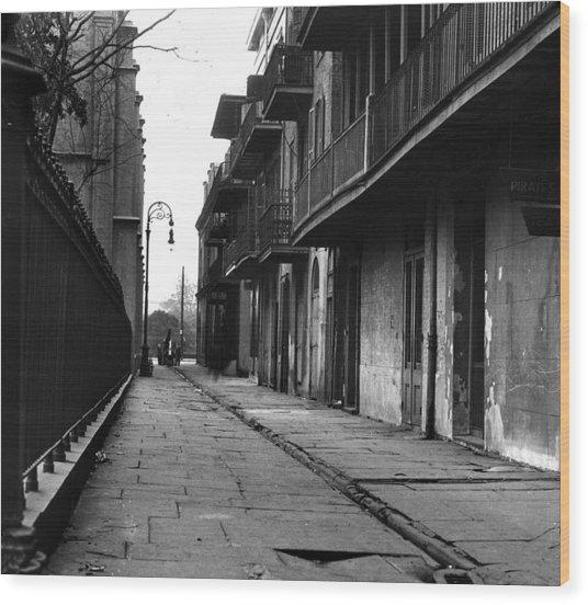 Orleans Alley Wood Print