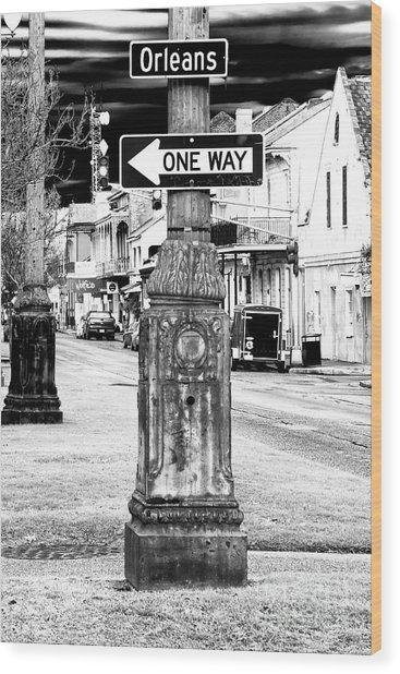 Orleans Street One Way Wood Print