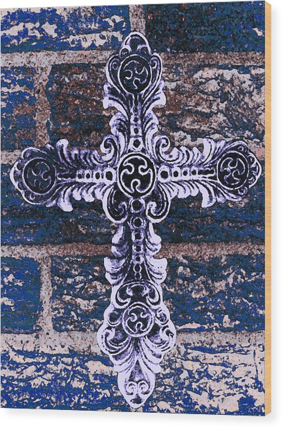 Ornate Cross 2 Wood Print