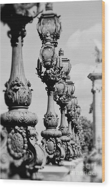 Ornate Paris Street Lamp Wood Print