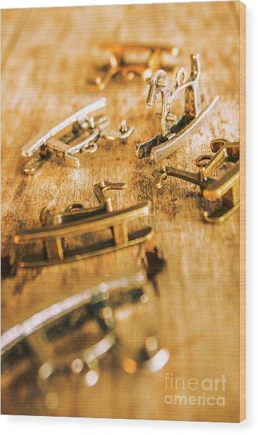 Ornate Rocking Horse Memoirs  Wood Print