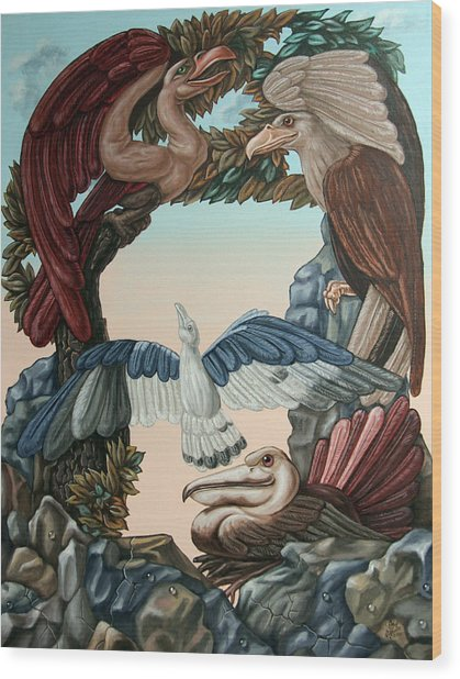 Ornithological Symphony By Ludwig Van Beethove Wood Print