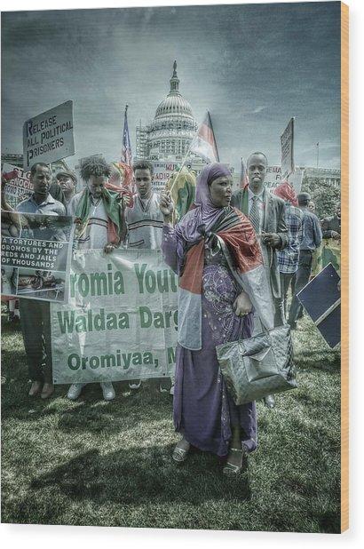 Wood Print featuring the photograph Oromo Unity by Ryan Shapiro