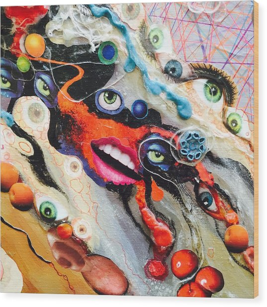 Eye Gumbo Wood Print