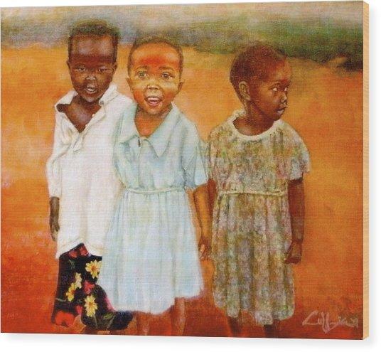 Orphans3 Wood Print