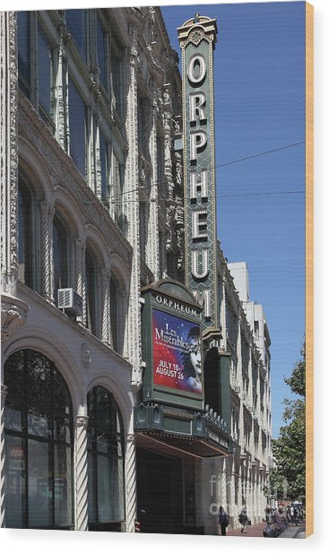 Orpheum Theatre San Francisco California 5d17997 Wood Print