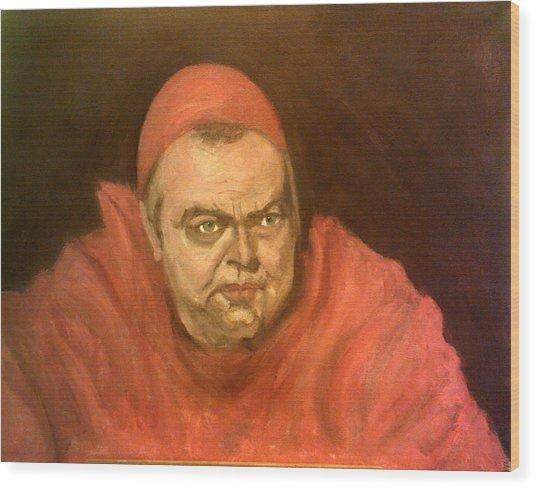 Orson Welles As Cardinal Wolsey Wood Print