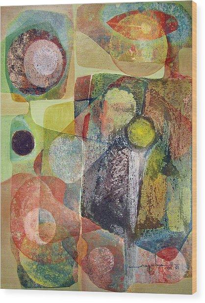 Os1961dc002bo Abstract Landscape Potosi 17x22.25 Wood Print by Alfredo Da Silva