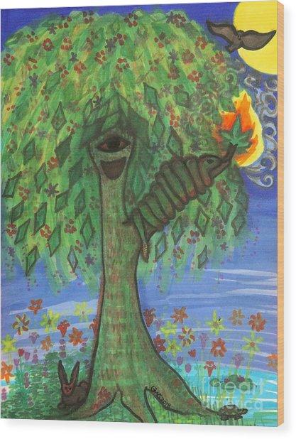 Osain Tree Wood Print