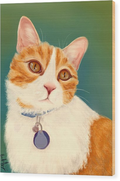 Oscar- Orange Tabby  Wood Print