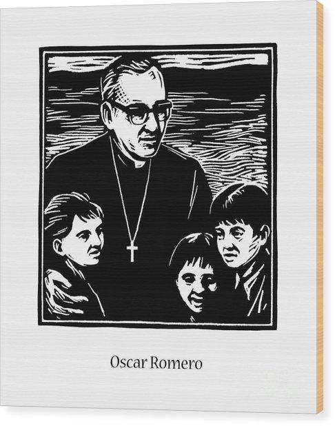 St. Oscar Romero - Jlosc Wood Print