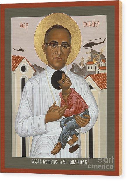 St. Oscar Romero Of El Salvado - Rlosr Wood Print