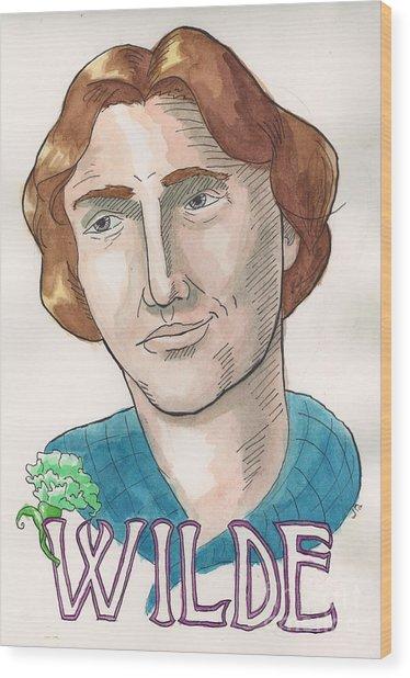 Oscar Wilde Wood Print