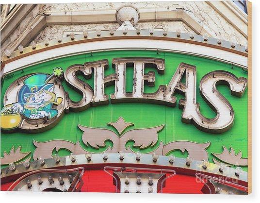 O'sheas Las Vegas Wood Print by John Rizzuto