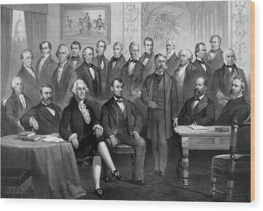 Our American Presidents 1789 - 1881  Wood Print