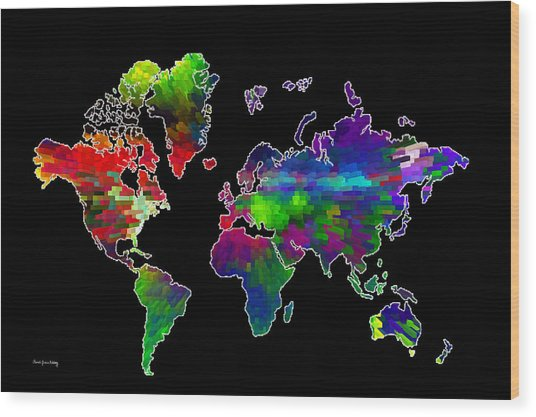 Our Colorful World Wood Print