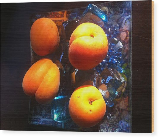 Our Juicy Apricots Wood Print