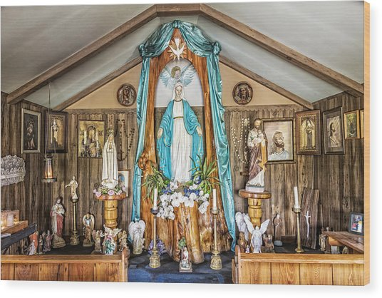 Our Lady Of Blind River Wood Print