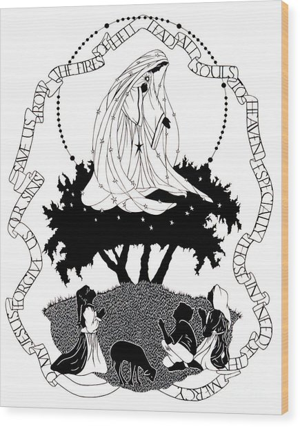 Our Lady Of Fatima - Dpolf Wood Print