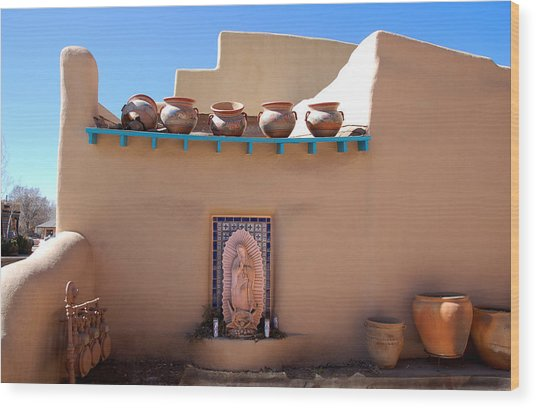 Our Lady Of Guadalupe Shrine Taos Wood Print