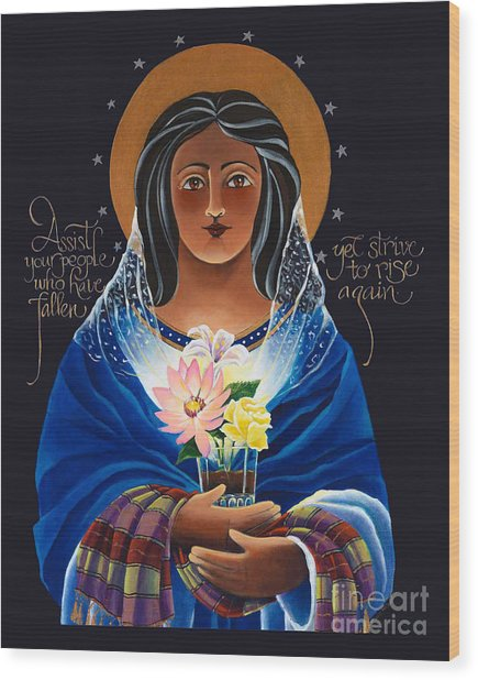 Our Lady Of Light - Help Of The Addicted - Mmlol Wood Print