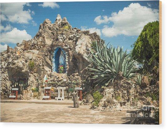 Our Lady Of Lourdes Grotto Wood Print