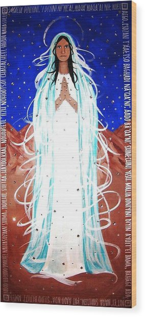 Wood Print featuring the painting Our Lady Of Lucid Dreams by Michelle Dallocchio