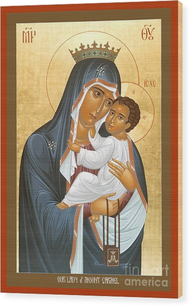 Our Lady Of Mount Carmel - Rlolc Wood Print