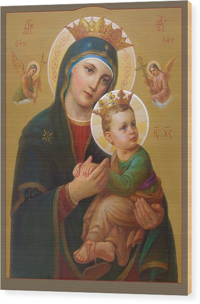 Our Lady Of Perpetual Help - Perpetuo Socorro Wood Print