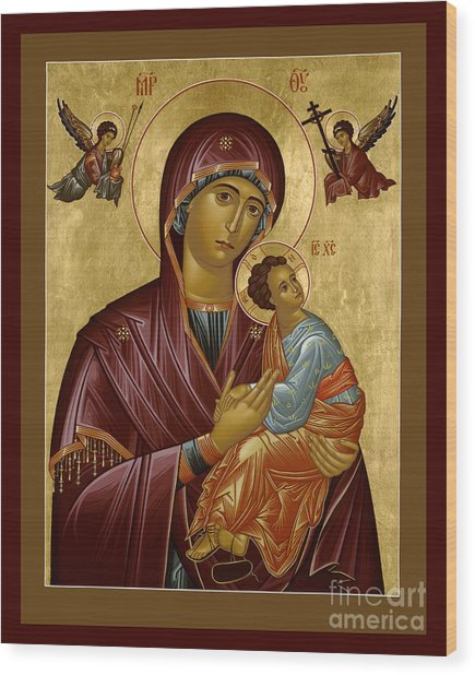 Our Lady Of Perpetual Help - Rloph Wood Print
