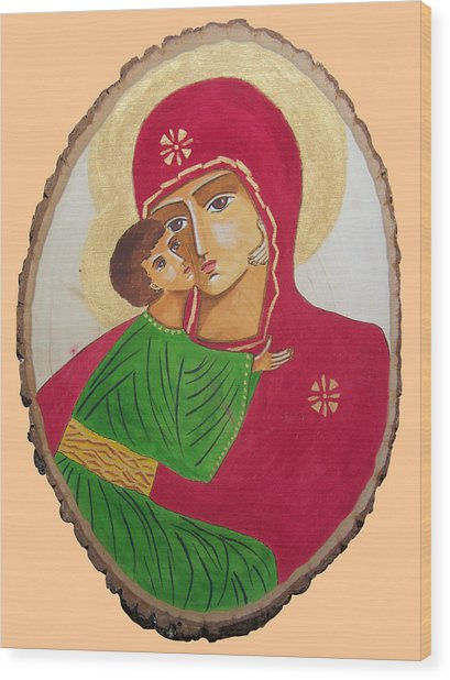 Our Lady Of Vladimir Wood Print