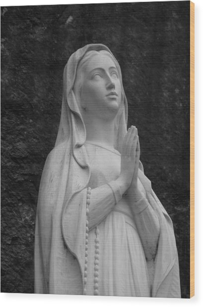 Our Lady Wood Print by Staci-Jill Burnley