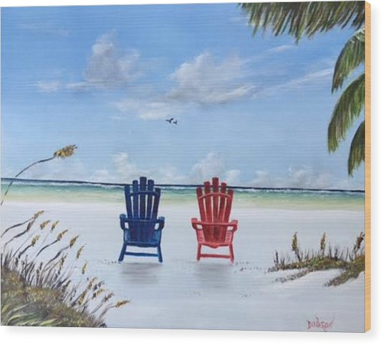 Our Spot On Siesta Key Wood Print