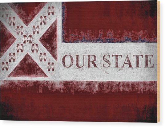 Our State Wood Print by JC Findley