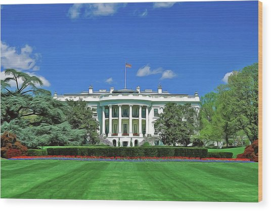Our White House Wood Print